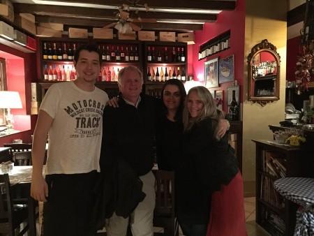 Inside Piassa Granda restaurant in Rovinj