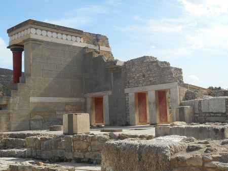 Walls at Knossos Palace Crete