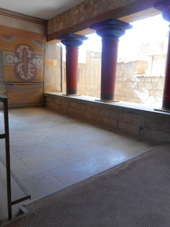 Collonade at Knossos Palace Crete