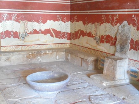 Throne at Knossos Palace Crete