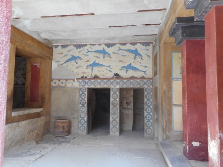 Queen's suite at Knossos Palace Crete
