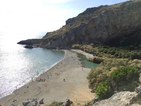 The Limni River enters the Sea of Crete.
