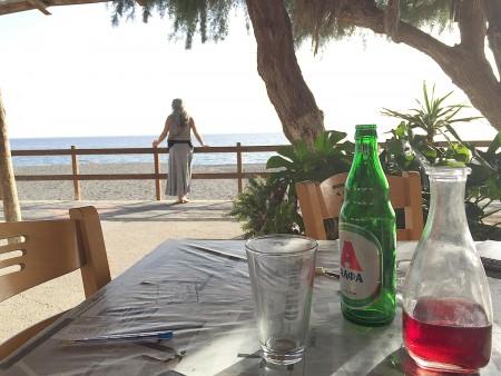 A taverna, the promenade . . . Sidonia, Crete.